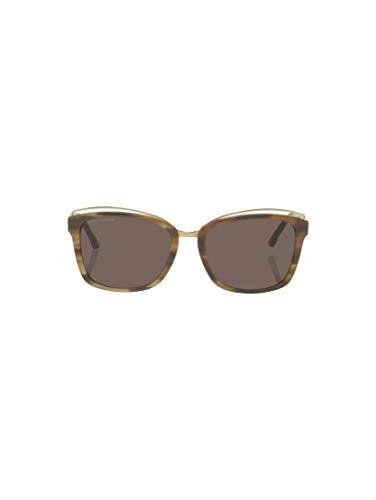 TOM TAILOR Damen Eyewear Wayfarer Sonnebrille mit breitem Rahmen brown structure-gold,OneSize