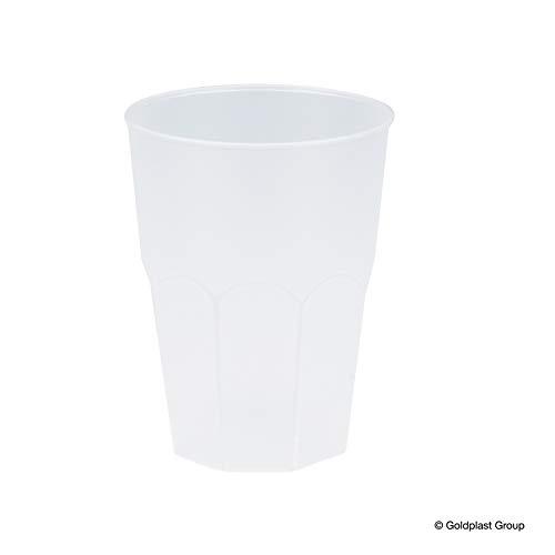 Herbruikbare cocktailglas 420cc van plastic (PP), transparant, 6 stuks, stapelbaar en onbreekbaar - ideaal geschikt als cocktailglazen, longdrinkglazen en voor beerpong, ook perfect voor verjaardagen, bruiloft en camping