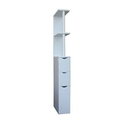HTI-Line Nischenregal Thekla L Nischenschrank Hochschrank Raumteiler Mehrzweckschrank Beistellschrank Weiß