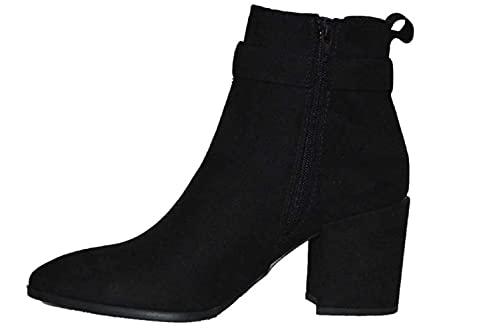 Dorothy Perkins Alma Buckle Heeled Jeans Boot, Bottes Classiques Femme, Noir (Black 010), 41 EU