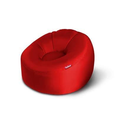 Fatboy® Lamzac O Luftsofa rot | aufblasbares Sofa / Liege / Bett | Sitzsack mit Luft gefüllt | Outdoor geeignet | 110 x 103 x 62 cm