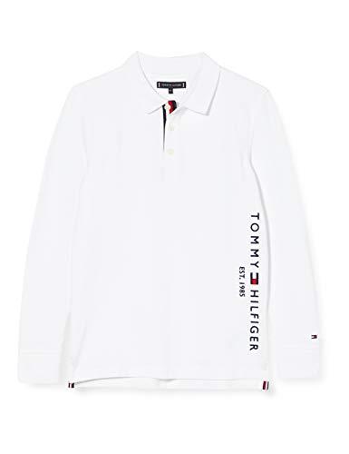 Tommy Hilfiger Essential Established Polo L/s Camisa, White, 6 para Hombre