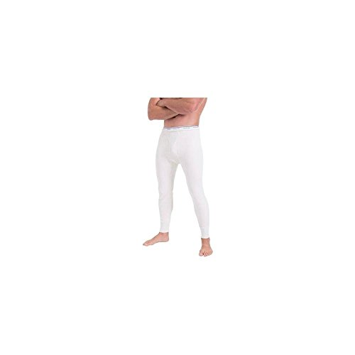 Fruit of the Loom Men's Classic Midweight Waffle Thermal Underwear Bottoms (1-Pack), Natural, Large