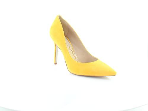 Sam Edelman Hazel Amber Yellow Stiletto Dress Shoes Pointed Toe Pump (Amber Yellow, 5.5)