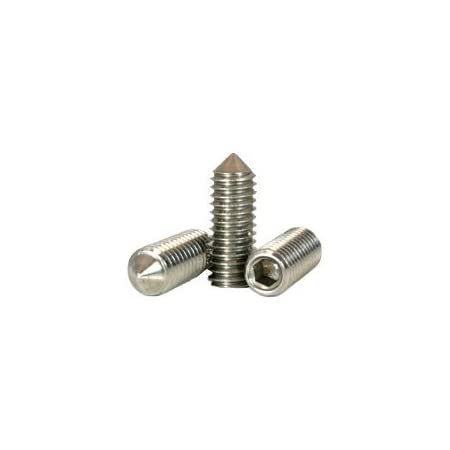 1//4-28 x 1//2 Fine Thread Slotted Set Screw Cup Point Stainless Steel 18-8 Pk 100