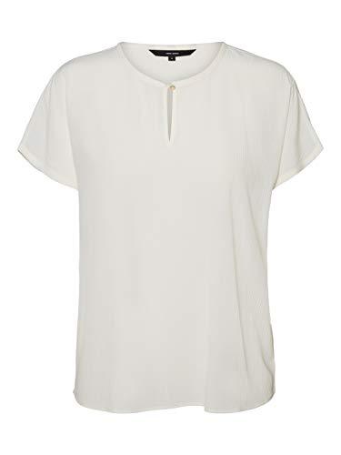VERO MODA Womens VMARIA SS Blouse NOOS Shirt, Snow White, M