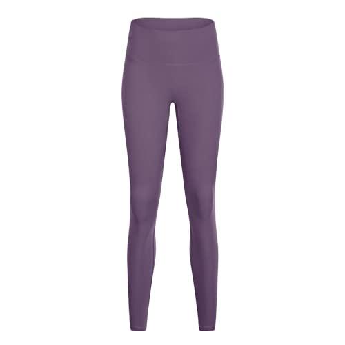 QTJY Leggings Deportivos Desnudos Suaves Deportivos para Mujer, Pantalones de Yoga de Cintura Alta, Mallas de Control del Vientre, Leggings de Yoga IL