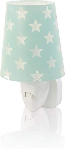 Dalber Stars Lámpara Infantil Luz Nocturna Quitamiedos Estrellas Enchufe Led Verde