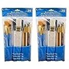 Loew-Cornell 245B Brush Set, Pack of 25, Multi Color (2 Packs)