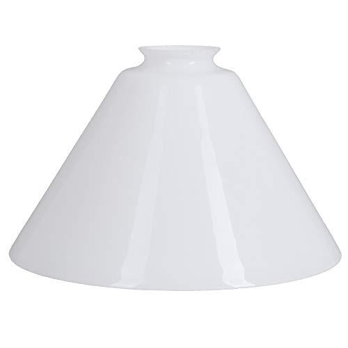 Schusterschirm Ø 216mm weiß Ersatzglas Lampenschirm Leuchtenglas Glasschirm rund Lampenglas Schusterglas 54/H-135/216mm