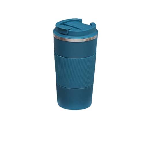 Jituan Taza de agua deportiva taza de agua 304 de acero inoxidable taza de café portátil coche coche taza de vacío práctica al aire libre taza práctica (500 ml)