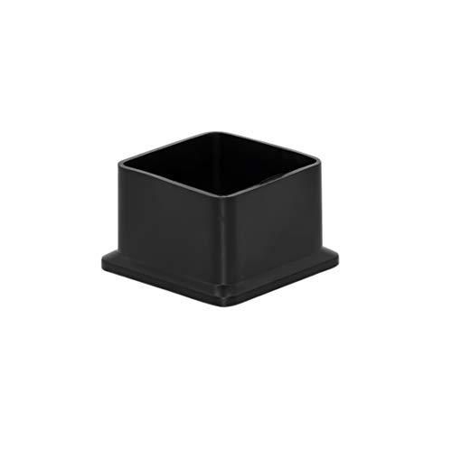Flyshop Icke-markerande PVC uteplats stol ben kepsar möbler stol ben golv skydd kvadrat svart 10 st (1,27 cm x 1,27 cm, 38 x 38 mm, svart PVC)