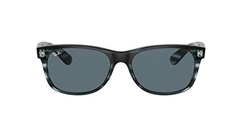Ray-Ban 0RB2132 Gafas, Striped Blue Havana, 58 Unisex