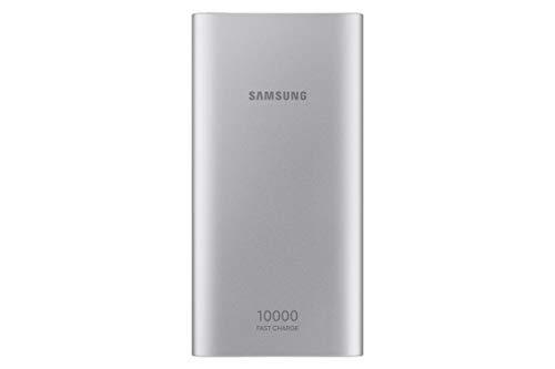 10.000 mAh tragbarer Akku mit Micro USB Kabel, silber (erneuert)