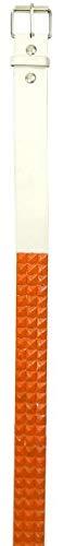 Brittny Fashion Belt Stud White/Orange (Pack of 4)