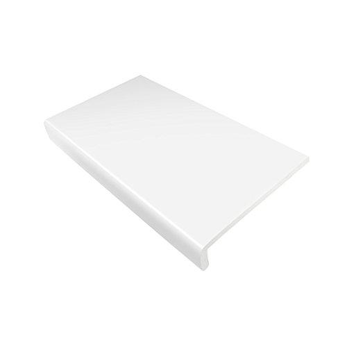 175mm weiße Hart-PVC-Fensterplatte / -Brüstungsabdeckung, 1,25m lang, 9mm dick, Kunststoff-Fensterbankabdeckung