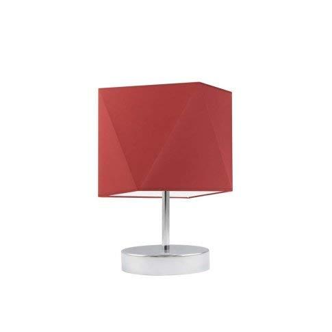 Lámpara de mesa PASADENA pantalla de lámpara Rojo Marco Cromo