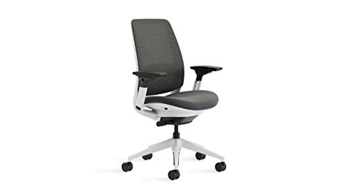 Steelcase Series 2 Office Chair, 3D Microknit Licorice/Cogent Connect Graphite