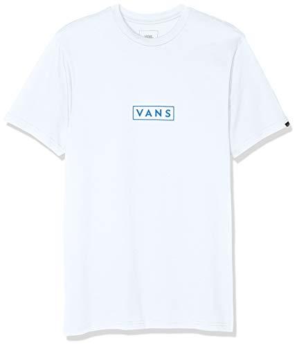 Vans Herren Easy Box Ss T-Shirt, Weiß (White-Green Lapis Blue Tjg), Large