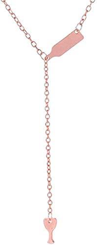 BACKZY MXJP Collar Botella De Vino Copa Colgante Largo Collar Declaración Gargantilla Cadena Joyas para Mujeres Hombres Regalos