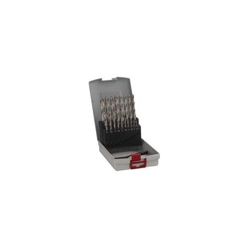 Bosch Professional 2608587013 ProBox HSS-G Set Punte Metallo, 1 - 10 mm Grigio, 19 Pezzi