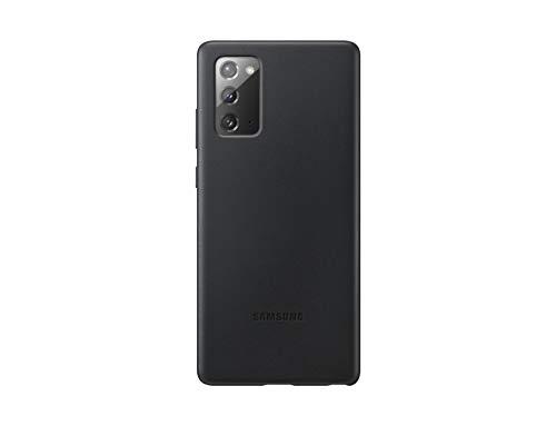 Samsung Leather Smartphone Cover EF-VN980 für Galaxy Note20 Handy-Hülle, echtes Leder, Schutz Hülle, stoßfest, premium, schwarz