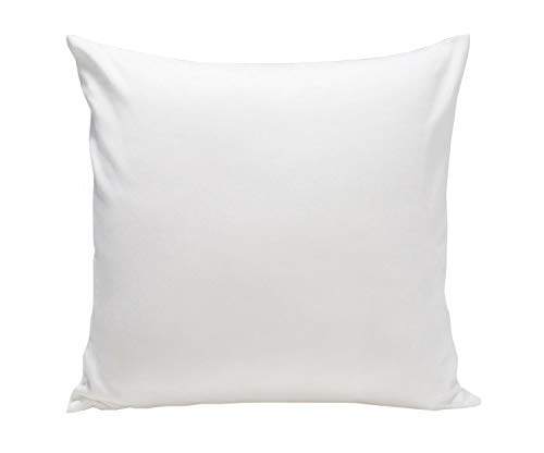 Homely Ideas Cushion Covers 35x35 cm 100% Polycotton Pack Of 2 Decorative Cushion Covers Plain Dyed Easy care Bedding & Linen. (White, 35xx35cm)