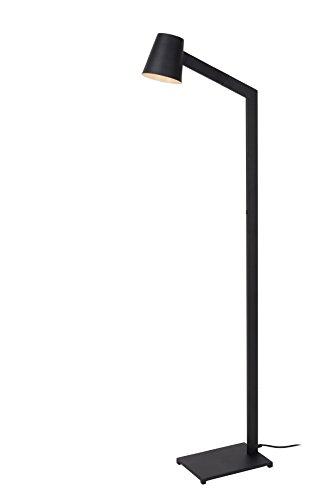 Lucide MIZUKO - vloerlamp met leeslamp - Ø 13 cm - E14 - zwart