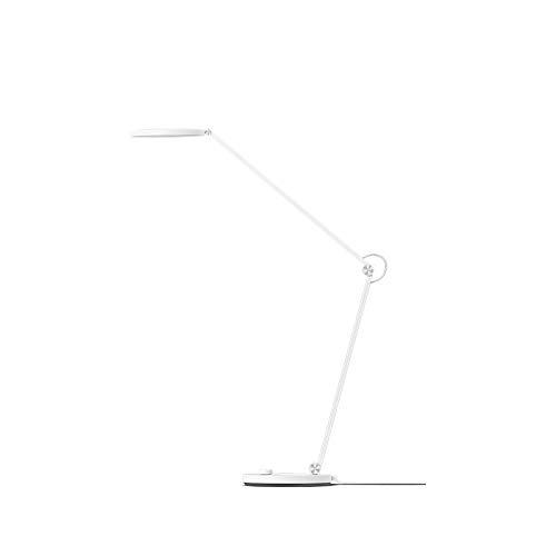 Nachtlicht Smart-Tischlampe LED-Schreibtischlampe, Leselampe, mit 3 Farbtemperaturen X 6 Helligkeitsstufen, Memory-Funktion, Timing-Funktion für Bett, Büro, Lesen, (Body Color : White)