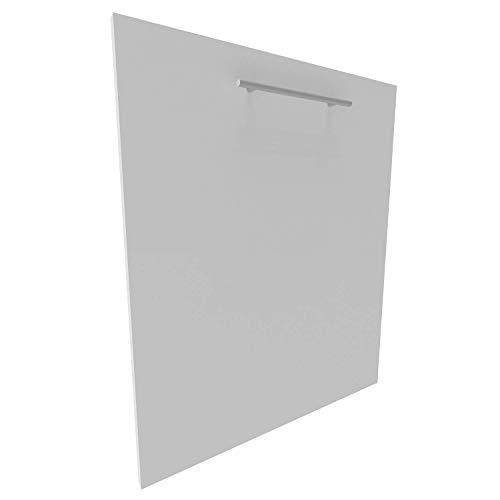 Geschirrspülerfront 16mm voll-, teilintegriert und nach Maß (Weiß, 594x715mm)
