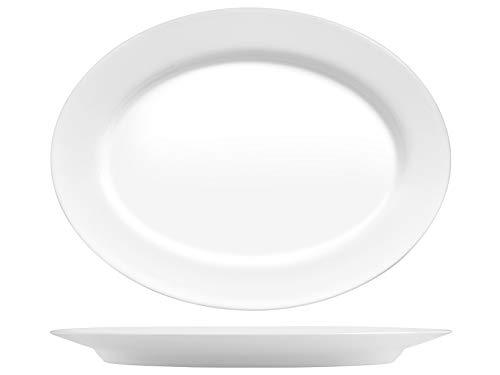 Bormioli Rocco 767143 Grangusto Plato de pescado, ópalo, blanco, 36 cm, cristal