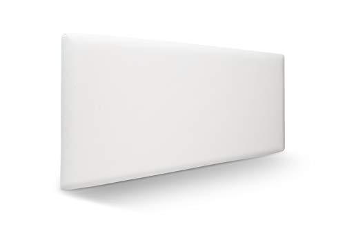 SUENOSZZZ-ESPECIALISTAS DEL DESCANSO Cabecero de Cama Liso tapizado en Polipiel para Camas de 90 (100 x 57 cm) Polipiel Blanco