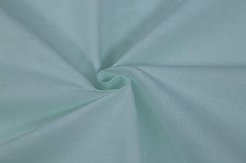Generico Tessuto di 100% Cotone al Mezzo Metro - Mussola Tinta Unita - Verde Acqua - Altezza 240 cm - 150 gr/mq - Alta qualità (Verde Acqua)