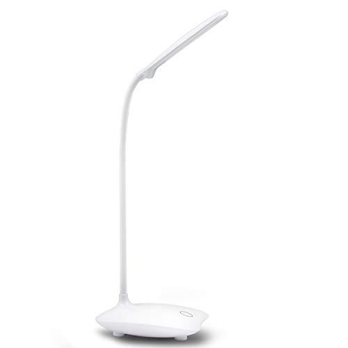 Schreibtischlampe Augenschutz LED Lampe Nachttischlampe Flexibler Nachttisch LED-Leseleuchte Lesen-Schreibtisch Licht nachladbare