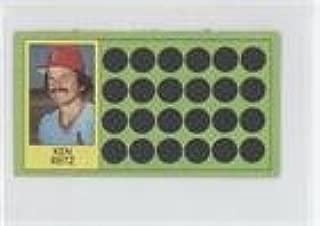 Ken Reitz (Baseball Card) 1981 Topps Baseball Scratch-Off - [Base] - Separated #101.1