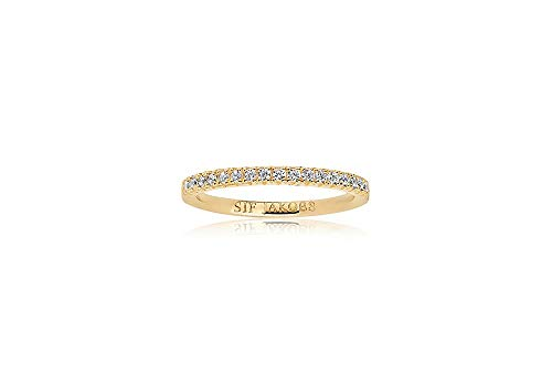 Sif Jakobs Ring Ellera - 18K Gold plattiert mit weißen Zirkonia SJ-R2869-CZ(YG)/52