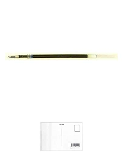 ゼブラ エマルジョンボールペン替芯 EQ-0.5 青 REQ5-BL 【5本】 + 画材屋ドットコム ポストカードA