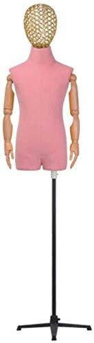Tailors - Soporte para maniquí para tienda de ropa para niños, modelo de niño para decoración de ventanas de 2 a 8 años (color: rosa, tamaño: grande)