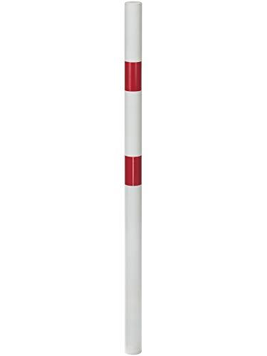 GAH-Alberts 782467 Absperrpfosten Standard SK   wahlweise in verschiedenen Ausführungen   zum Einbetonieren   weiß   Pfosten-Ø 60 mm   Höhe über Boden 100 cm