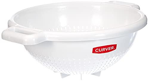 Curver 175218 - Colador de cocina de  polipropileno, 26 x 31 x 12 cm, blanco