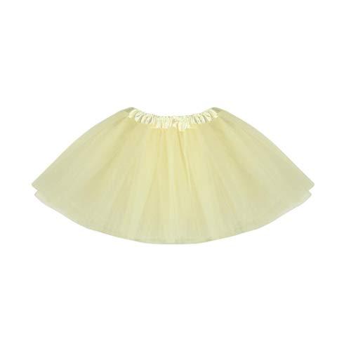MUNDDY® - Tutu Elastico Tul 3 Capas 40 CM de Longitud para Adulta Distintas Colores Falda Disfraz Ballet (Envio 48-72h con Seguimiento Desde Madrid) (Beige)