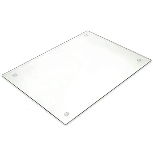 Tempered Glass Cutting Board – Long Lasting Clear Glass – Scratch...