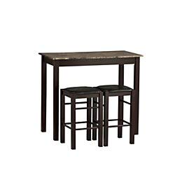 Best Wooden  3-piece stool table set under 100