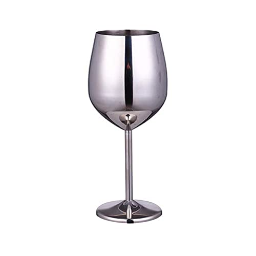Copa 220/500 ml de acero inoxidable Copa de champán de vino de vidrio de vidrio de vidrio creativo de vino de vino de metal (Color : 04 500ml)