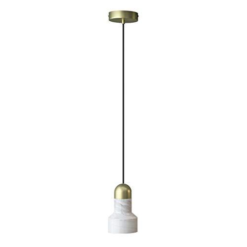 Lamparas de techo De una sola cabeza de la lámpara LED nórdica de lujo simple de la personalidad del pasillo del pasillo de mármol Dormitorio lámpara de cabecera del café de la barra centro comercial