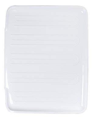 Rubbermaid 1182MAWHT Large White Drain-Away Tray