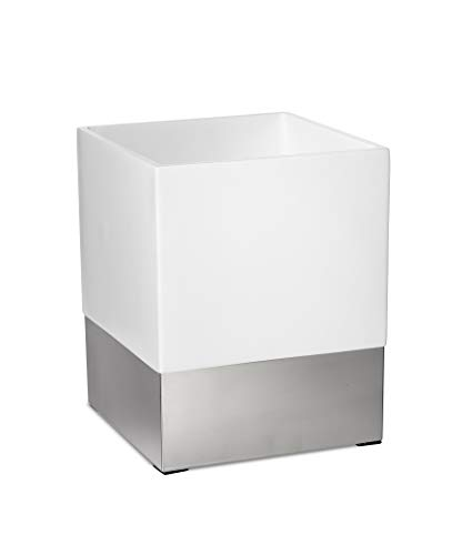 Roselli Trading Company Suites Collection Wastebasket White