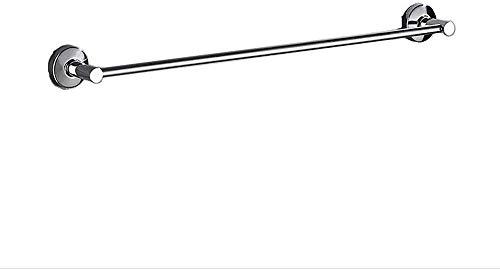 LZQBD Bathroom Equipment/Flüssiges Nagel Edelstahl Handtuch einpolige hängen kühl Regal einzelne Schicht Bad Toilette Bad Anhänger Badezimmer (Size : 60CM)