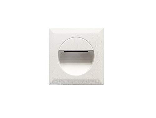 Weisse 1,2 W Applique murale stiegen LED encastrable blanc chaud stiege Éclairage pour l'intérieur et l'extérieur stiege Lampe éclairage d'escalier rectangulaire. ledmich