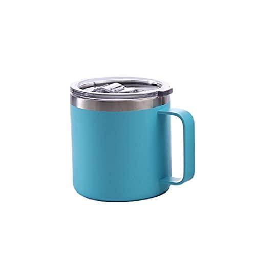 IRYNA Botella de agua termo aislada al vacío de acero inoxidable con tapa deslizante espesar termo de vacío inteligente